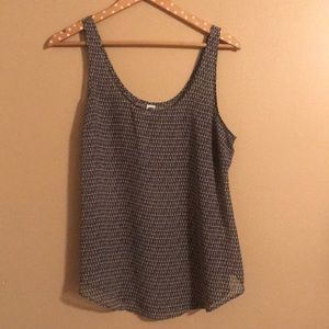 Black And White Patterned Old Navy Tank Top - L